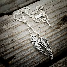 handmade angel necklace images Sterling silver angel wing necklace handmade jewelry by wild jpeg