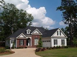 colors red brick grey roof white siding house facade