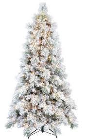 martha stewart living 7 5 glittery pine pre lit artificial
