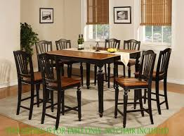 Kitchen Table Tall by Dining Room Round Black Tall Kitchen Table Set With Rug Tips
