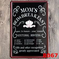 Metal Signs Home Decor by Online Get Cheap Vintage Metal Sign Breakfast Aliexpress Com