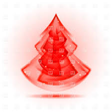 red christmas tree in fractal geometry style vector image 26797