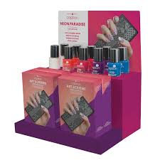 neon paradise 11 count display young nails inc cosmoprof