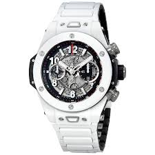 hublot ceramic bracelet images Hublot big bang unico automatic men 39 s white ceramic watch 411 hx jpg