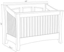 Dimensions Of A Baby Crib Mattress Standard Size Crib Mattress Dimensions Carlisle Crib Ohio