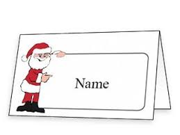 free printable christmas place cards and place card templates for