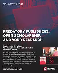open access week u2013 scholarly communication
