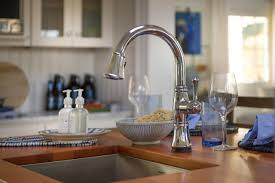 delta brushed nickel kitchen faucet delta cassidy kitchen faucet attractive single handle pull with