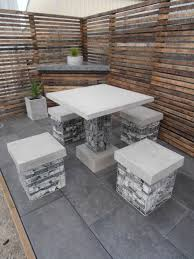 concrete patio dining table concrete patio furniture at home and interior design ideas