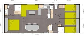 les 3 chambres cottage 6 personnes 3 chambres 2 salles de bain cing