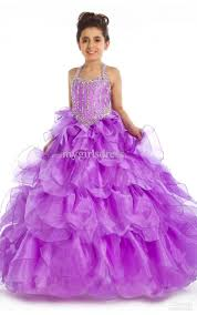 new kids pageant bridesmaid dance party princess ball gown