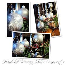 handmade mercury glass ornaments by emily at finding my aloha