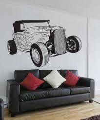 vinyl wall decal sticker classic hot rod car 1336