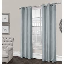 Silver And Blue Curtains Rita Textured Grommet Curtain Panel Ice Blue 84 In At Home At