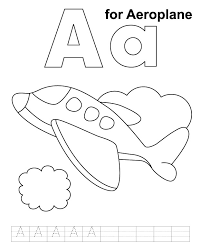 letter airplane coloring coloring pages ideas