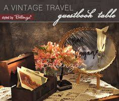Wedding Wishes Guest Book A Wedding Wish Guest Book Table For A Vintage Travel Theme