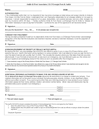 hipaa consent forms