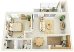 One  Bedroom ApartmentHouse Plans Apartment Floor Plans - One bedroom design