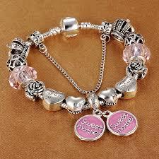spinner 2017 fashion silver sweet charm bracelet pandora