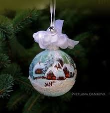 painted ornaments winter