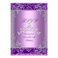 rsvp quinceanera 15th birthday party purple lilac 3 5 5 paper