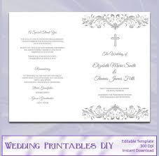 catholic wedding program cover wedding program template 61 free word pdf psd documents