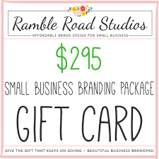gift cards for small business small business branding package gift card give the gift of