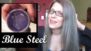 Color For Gray Hair Enhancing Dyeing My Hair Manic Panic U0027blue Steel U0027 Mature 50 Grey No