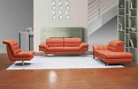 Modern Italian Leather Sofa Modern Italian Pumpkin Leather Sofa Jm062 Leather Sofas