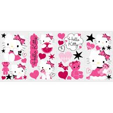 hello kitty couture removable wall decals wall2wall hello kitty couture removable wall decals