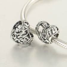 silver charm bead necklace images 100 925 sterling silver openwork hollow mom charm bead fit jpg