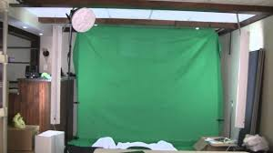 Halogen Shop Light Best Way To Light A Green Screen Chromakey Cheaply Without