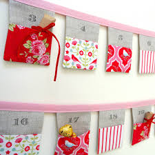 handmade bunting advent calendar tilda birds by sew sweet violet