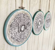 Spencer Home Decor Stencilgirl Talk Stenciled Embroidery Hoop Home Decor With