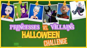 disney princesses vs villains halloween challenge dress up