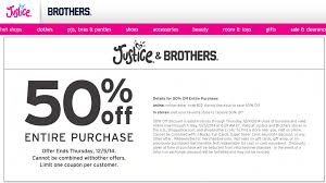 amazon promotional black friday codes pinned december 3rd 50 off everything at justice u0026 brothers