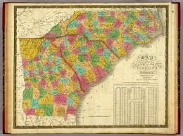Map Of Carolinas Of North And South Carolina And Georgia Mitchell Samuel