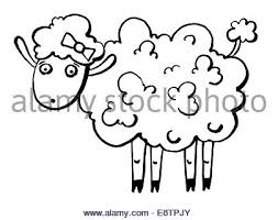 drawing sketch style illustration of a goat ram with big horns and