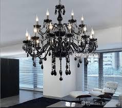 Front Door Chandelier Black Murano Glass Crystal Chandelier Light Modern Chandeliers