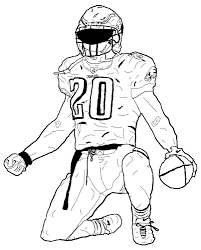 color print out of football jersey
