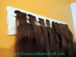 diy hair extensions hair extension organizer shannon makes stuff thrifty thursday