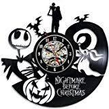 amazon com vinyl record clock nightmare before christmas wall