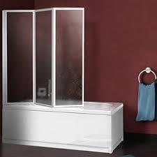 pannelli per vasca da bagno parete sopravasca 133 cm acrilico con profili alluminio bianco