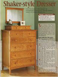Shaker Style Nightstand Diy Shaker Style Dresser With Valet Plan U2013 Woodfan