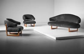 Sofa And Armchair Sculpture Sofa And Pair Of Armchairs By Jean Royère On Artnet