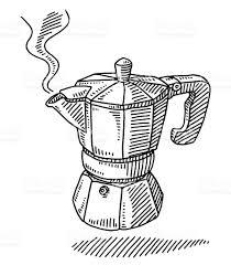 espresso coffee clipart italian coffee maker clip art vector images u0026 illustrations istock