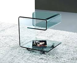 Accent Coffee Table Side Table Contemporary Glass Side Table Coffee Tables Drawer