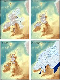 Map Of England And France by Ice Age Maps Showing The Extent Of The Ice Sheets