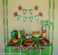 football party decorations football party ideas events to celebrate