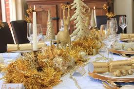 ideas how to decorate christmas table collection in gold christmas table centerpieces with gold and white